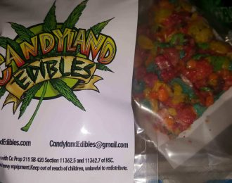Candyland fruity pebble/rice crispy treats