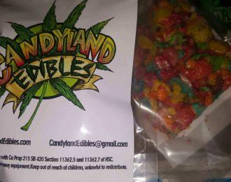 Candyland fruity pebble/rice crispy treats