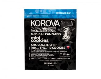 Korova mini chocolate chip cookies 100mg